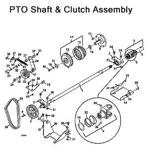 PTO Shaft and Clutch Assembly