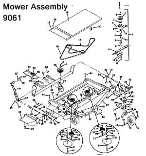 9061 Mower Assembly