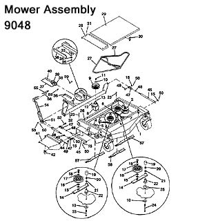 9048 Mower Assembly