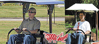 Canopy Sunshades for Grasshopper Mowers