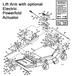 Lift Arm with Powerfold Assembly