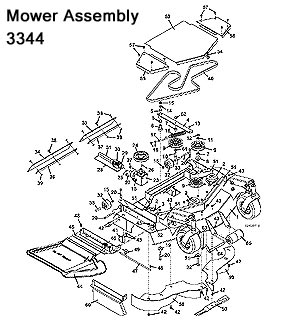 3344 Mower Assembly
